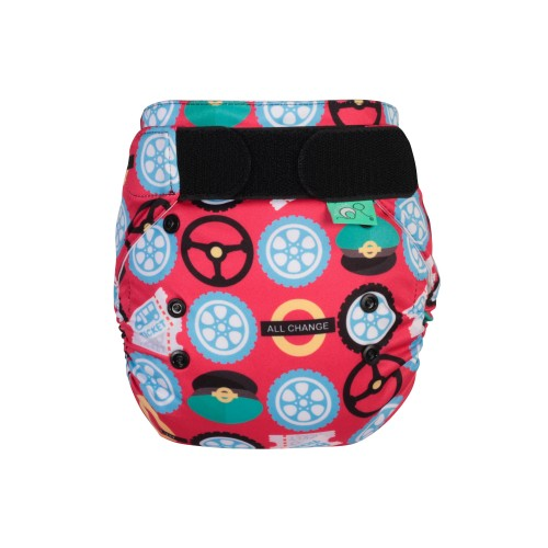 TotsBots EasyFit Reusable Nappy Wheels on the Bus front