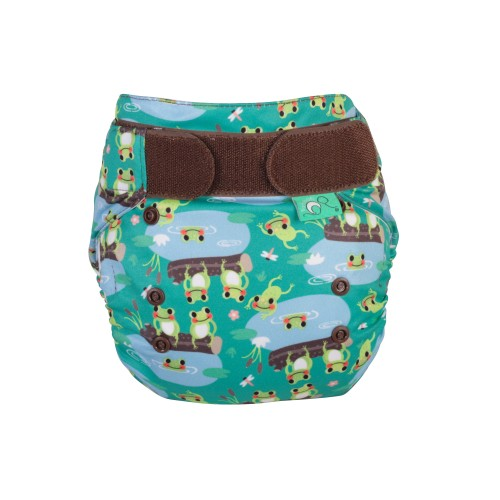 TotsBots EasyFit Reusable Nappy Five Little Speckled Frogs front