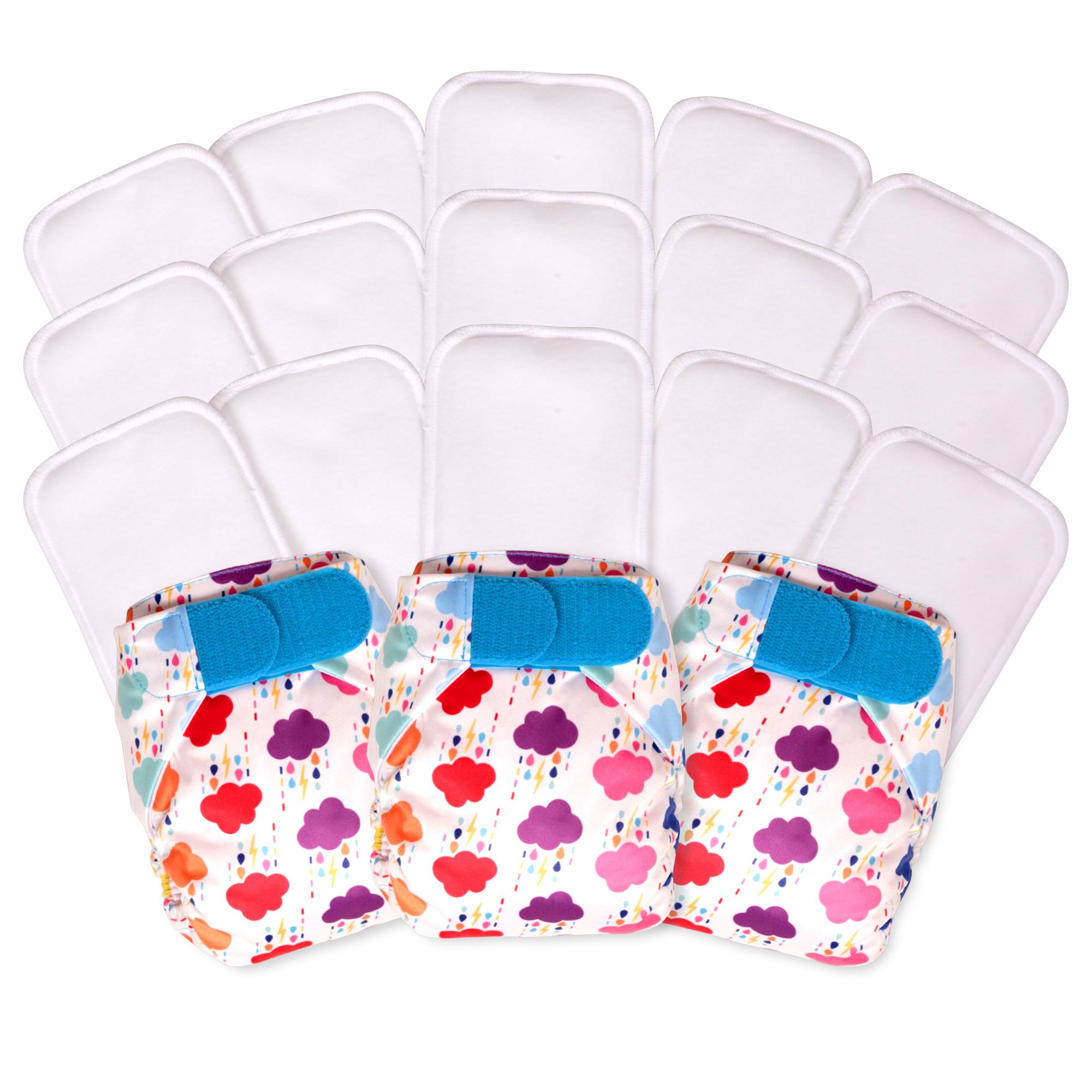 15 pack newborn nappies