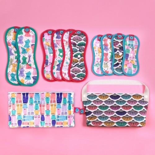 Bloom & Nora Reusable Sanitary Pads kit, bloomers