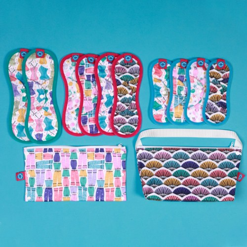Bloom & Nora Reusable Sanitary Pads kit, noras