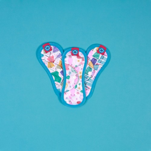 Bloom & Nora Reusable Sanitary Pads 3 pack Mini