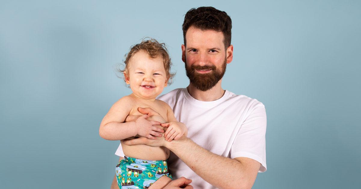 TotsBots Dad James advice on reusable nappies