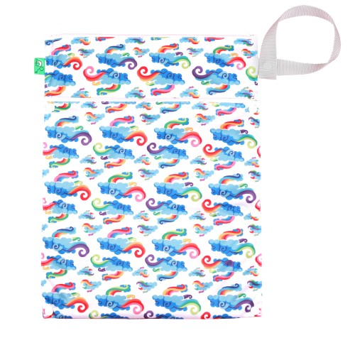 TotsBots Reusable Nappy Waterproff Wet and Dry Bag Breeze