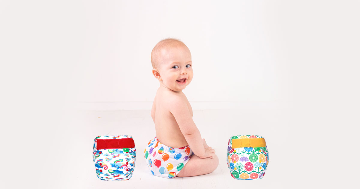TotsBots Reusable Nappies New Elements Prints