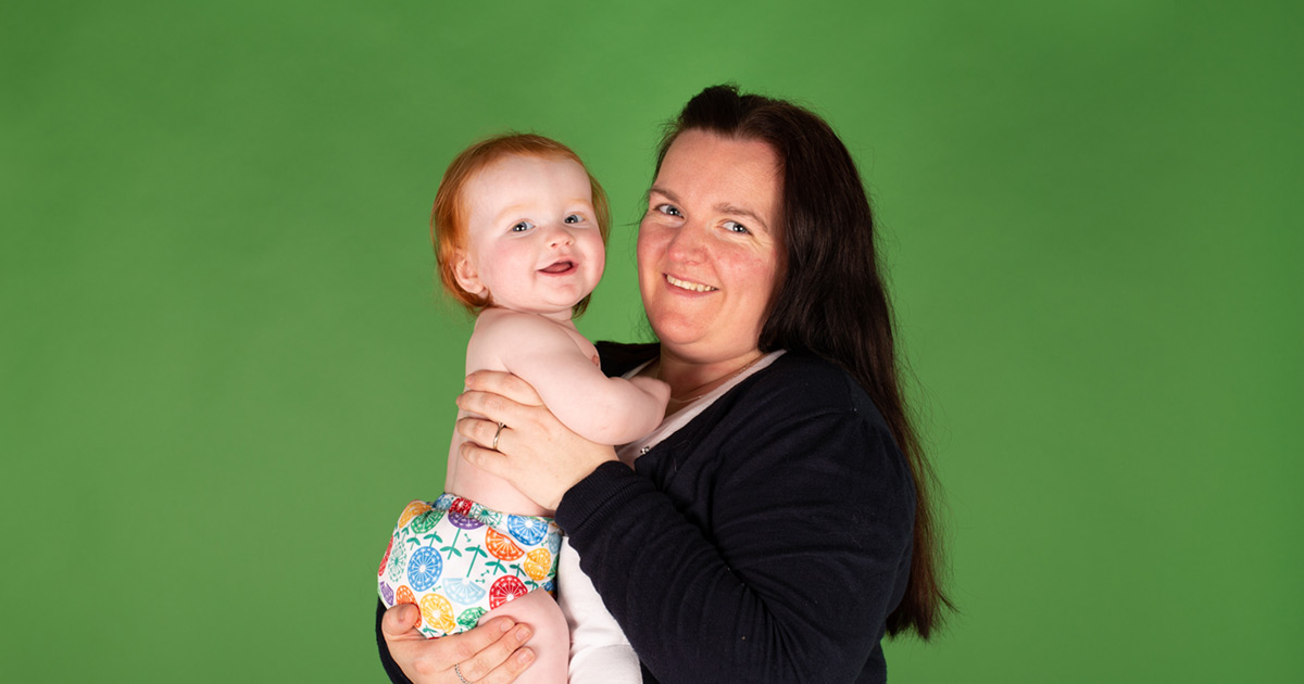 Real mum Ashleigh on choosing reusable nappies