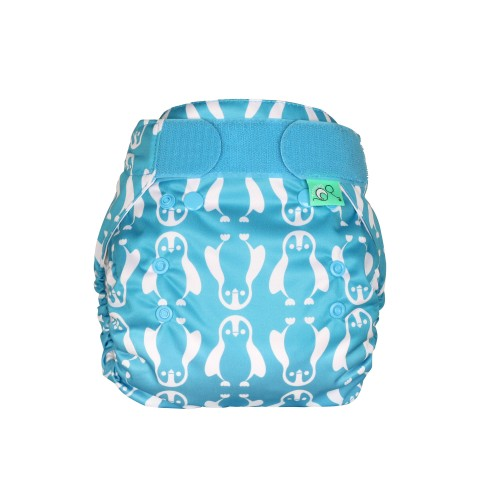 TotsBots Reusable Nappies PeeNut waterproof wrap Nappy Feet front