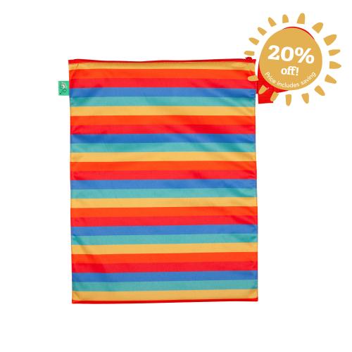 Waterproof Nappy Bag Rainbow Stripe