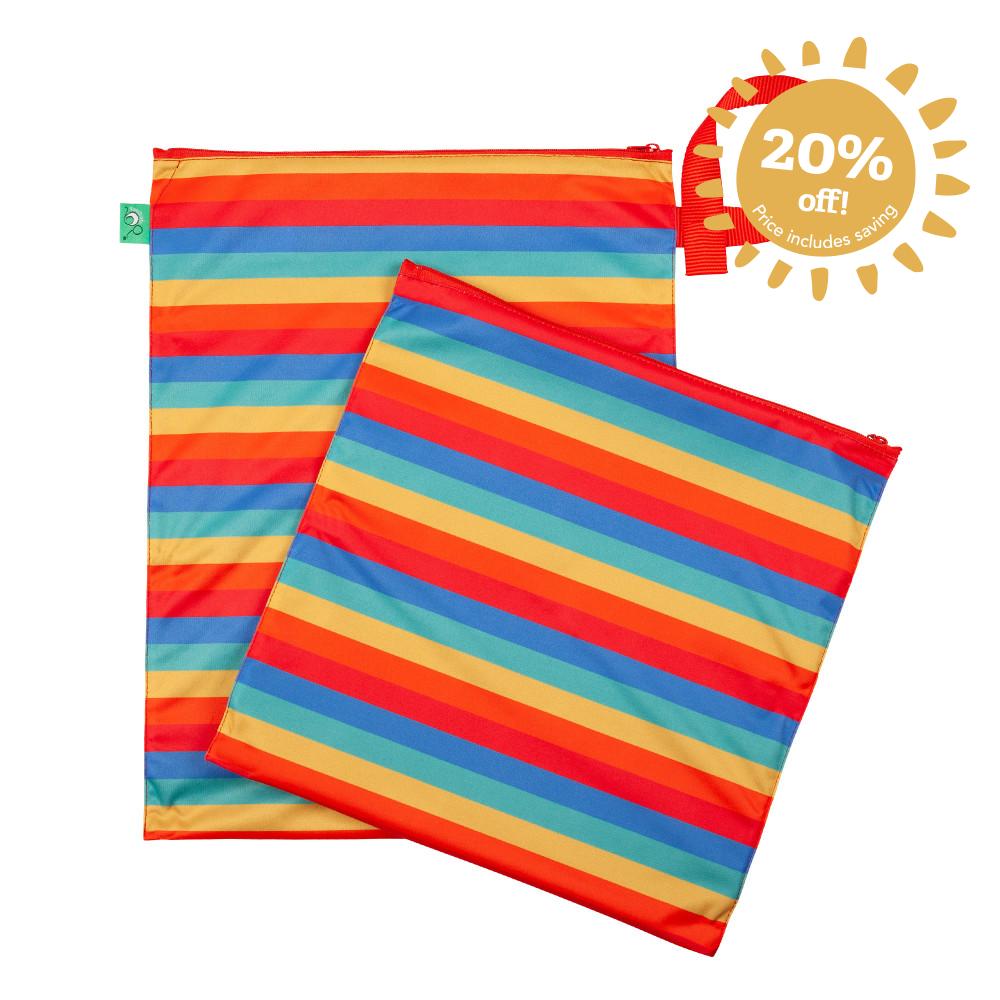 Wet & Dry Nappy Bag Rainbow Stripe