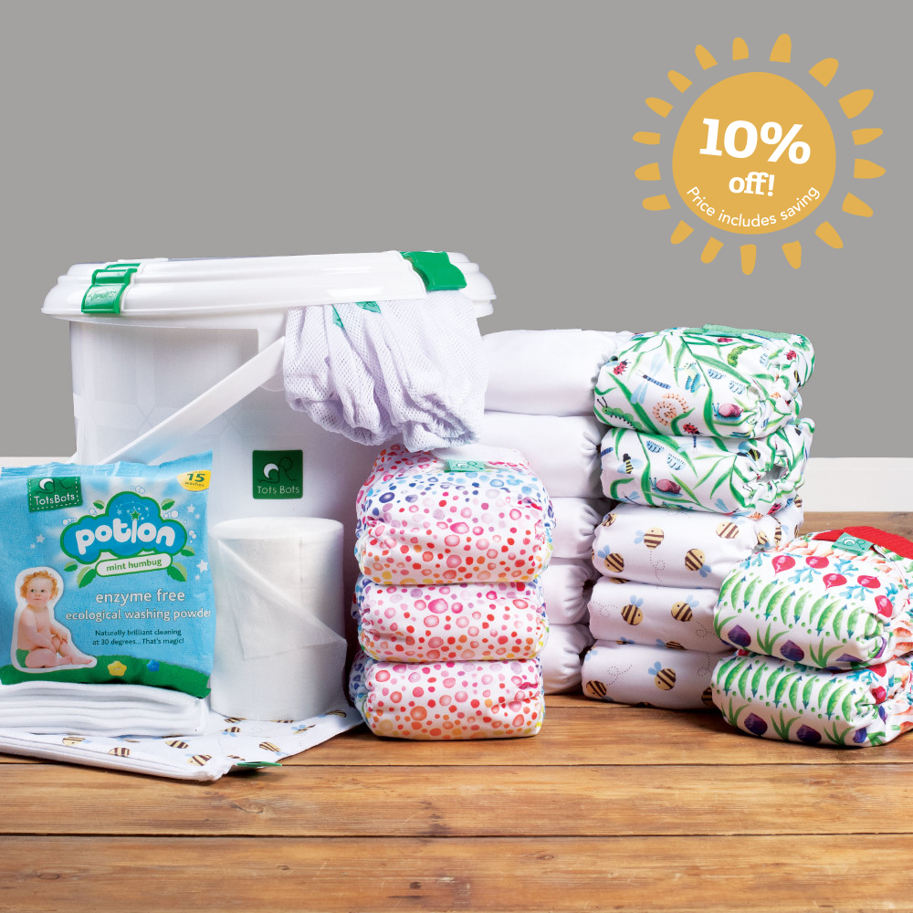 TeenyFit newborn all-in-one nappy complete kit