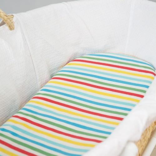 Frugi cosy moses basket sheets 2 pack