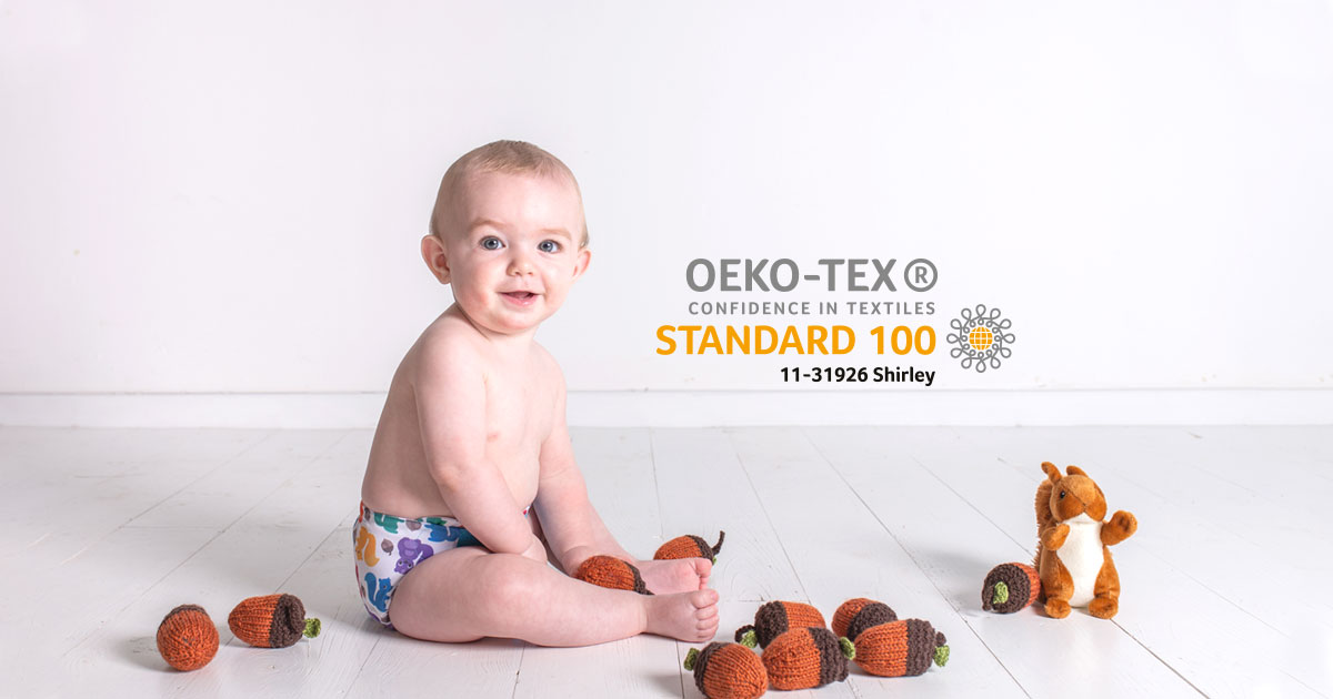 TotsBots Nappies pass Oeko-Tex Class One