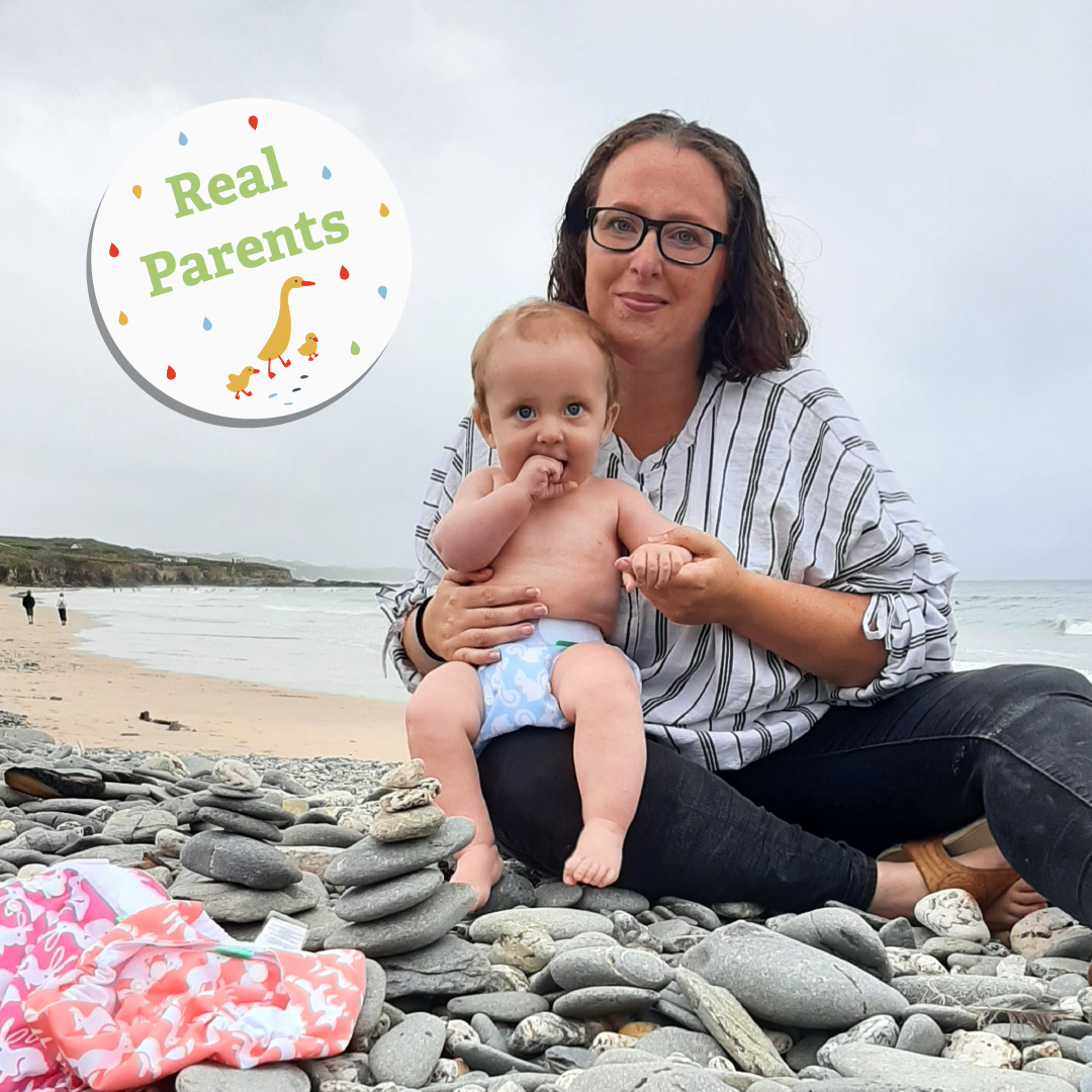 TotsBots Real Parent Danielle and Otto on the beach