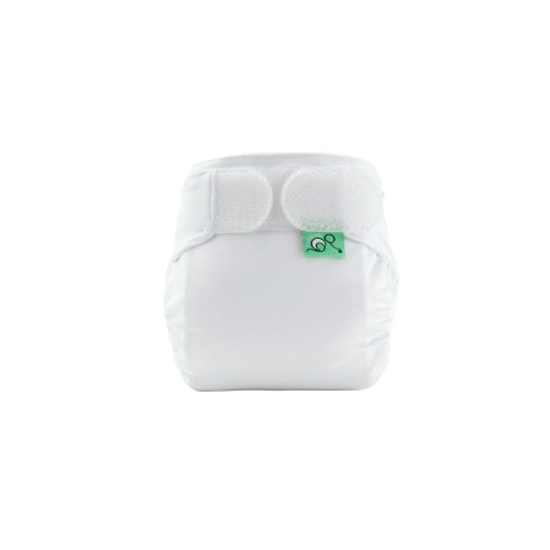 TotsBots TeenyFit Reusable Newborn nappy White