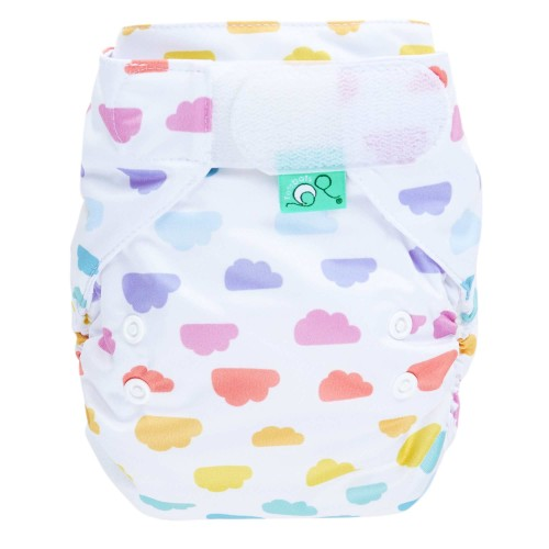 Reusable nappy in cloud pattern - EasyFit all in one nappy from TotsBots