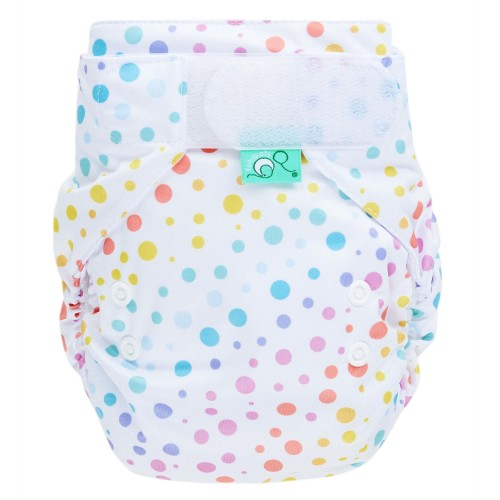 Reusable nappy in dotty pattern - EasyFit all in one nappy from TotsBots