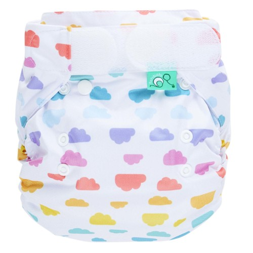 Reusable nappy in cloud pattern - Bamboozle  nappy wrap from TotsBots