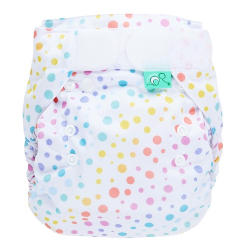 Reusable nappy in dotty pattern - Bamboozle nappy wrap from TotsBots