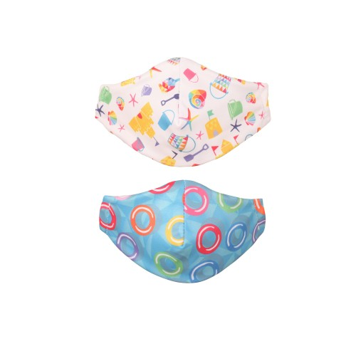 TotsBots Children's Reusable Face Mask, Funshine & Wubbawing