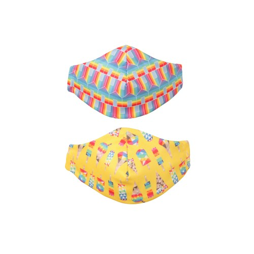 Kids Face Masks - Lollibots & Hit the Hut  2 Pack