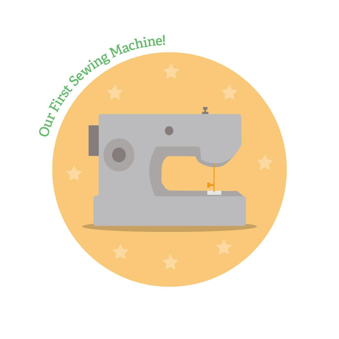 First ever sewing machine icon graphic