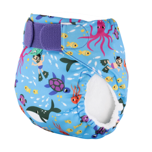 Swim Nappy Unisex Print Size 1 - Seconds