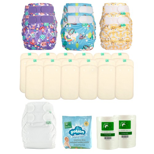 TotBots Reusable Nappy Kit - PeeNut Wrap