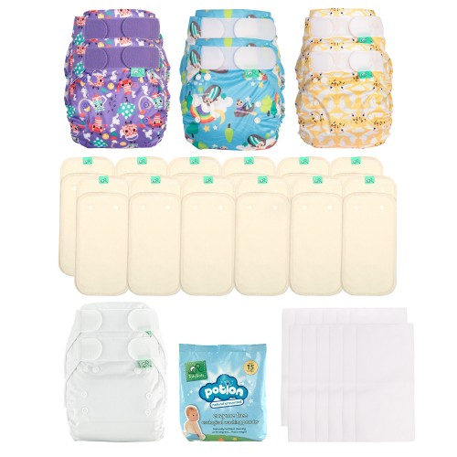 TotsBots Reusable Nappies PeeNut Kit