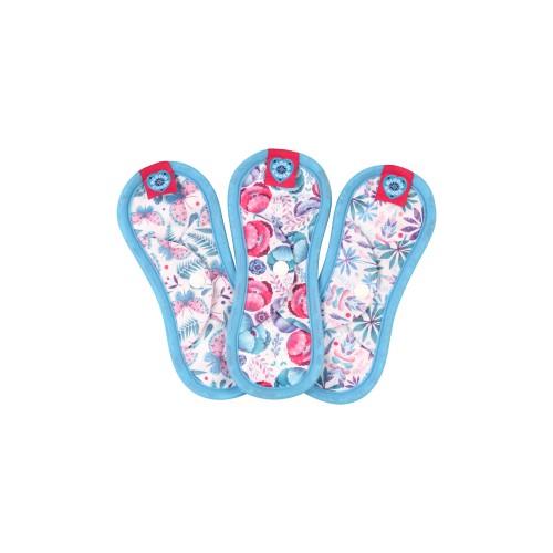 Bloom & Nora reusable sanitary pads - Mini 3 pack - Light flow