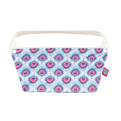 Waterproof bag for reusable sanitary pads - Bloom & Nora Lush print