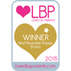 Loved By Parents Winner - Best Reusable Nappy Brand - Gold 2015