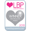 Loved By Parents Winner - Best  Reusable Design - Silver 2013