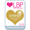 Loved By Parents Winner - Best  Reusable Nappy - Gold 2013