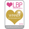 Loved By Parents Winner - Best  Reusable Nappy - Gold 2012