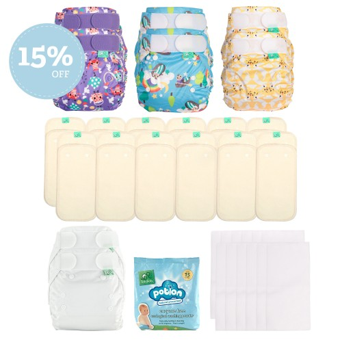reusable nappy kit discount, TotsBots PeeNut