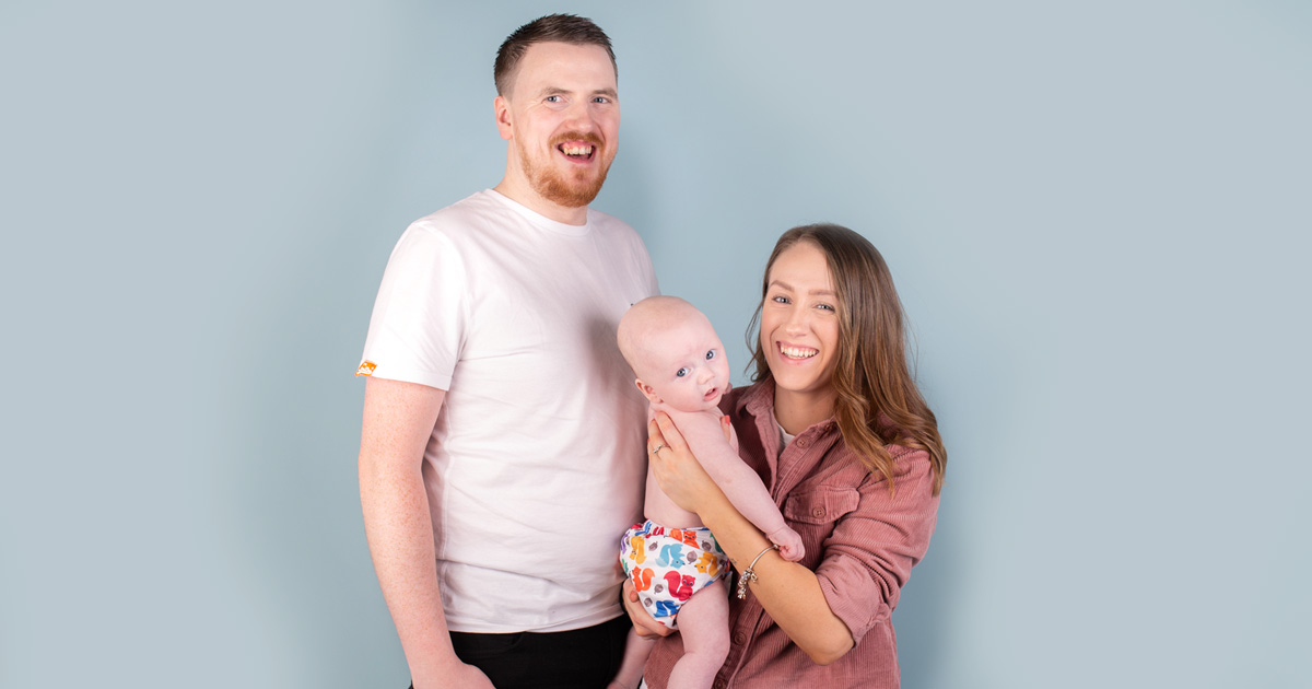 Real parents using reusable nappies: Scott & Ashleigh