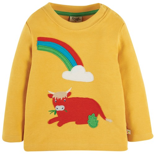 Frugi Organic Cotton Little Discovery Applique Top
