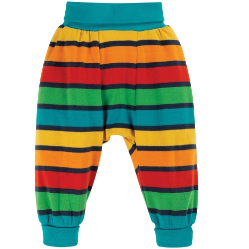 Frugi Parsnip Pants Bumble Bee Rainbow Stripe