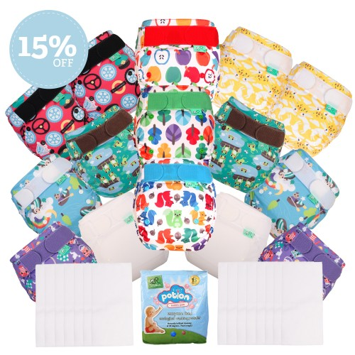 EasyFit 15% off All in one TotsBots reusable nappies