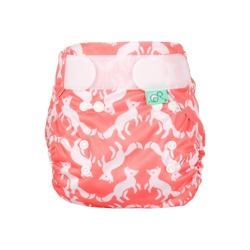TotsBots Waterproof Wrap for Reusable Nappy - Foxtrot front