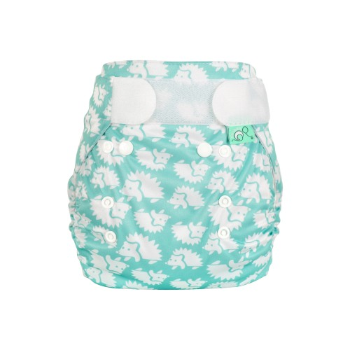 TotsBots Waterproof Wrap for Reusable Nappy - Hedgehug front