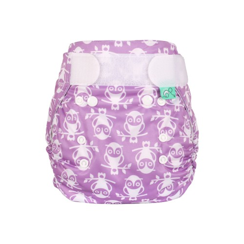 TotsBots Waterproof Wrap for Reusable Nappy - Owlbert front