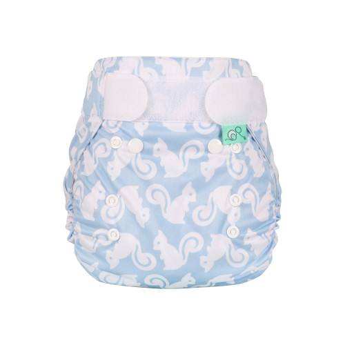 TotsBots Waterproof Wrap for Reusable Nappy - Squiddle front