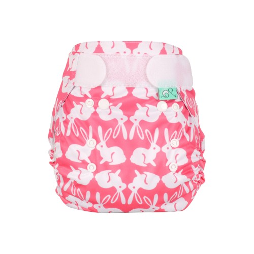 TotsBots Waterproof Wrap for Reusable Nappy - Bummy Wabbit front