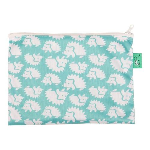 TotsBots waterproof reusable wipe bag - Hedgehug