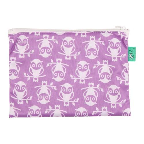 TotsBots waterproof reusable wipe bag - Owlbert