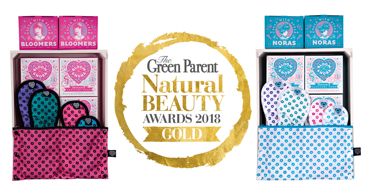 Bloom and Nora award winning reusable sanitary pads