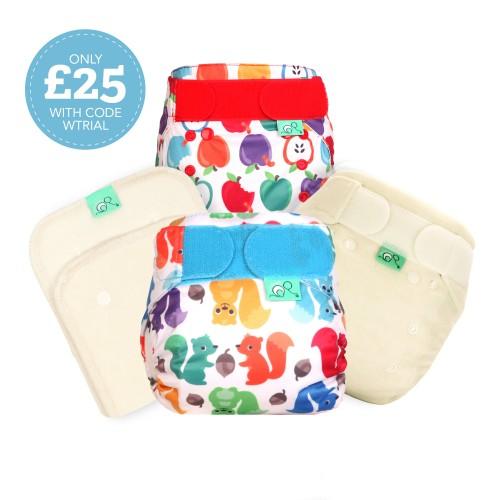 Reusable Newborn Nappy Kit