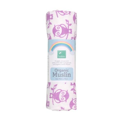 TotsBots Organic Cotton Muslins - Owlbert Print