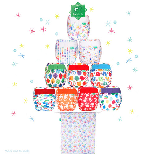 TotsBots Reusable Nappies Sparkle Christmas Cask